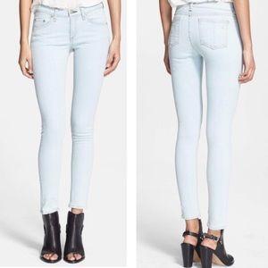 Rag & Bone Distressed White Water Skinny Jeans